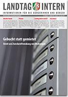 Deckblatt von Landtag Intern Ausgabe 1 vom 29.01.2019